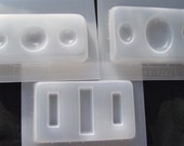 Resin Molds 3 Trays Oval, Circle and Rectangles (383, 384, 388)