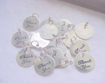 20 Thank You Charms With Split Ring