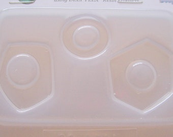 Deep Flex Resin or Polymer Clay Abstract Shape Molds No 611