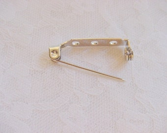 1 Gross (144 pieces) Nickel Plated Pin Backs 1 Inch (25mm)