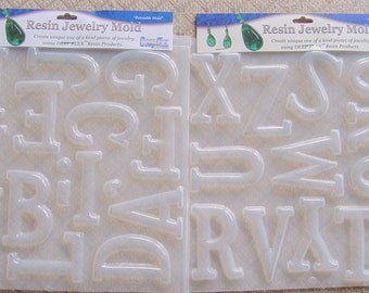 2 Deep Flex Resin Letter Molds With Punctuation (400 / 401)