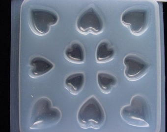 Resin Jewelry Mold Heart Shapes Deep Flex Featuring 12 Assorted  Hearts (410)