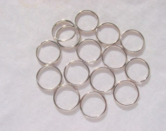 24 Pieces Large 32mm Steel Split Jump Rings Nickel Plated ONLY 16 CENTS EACH