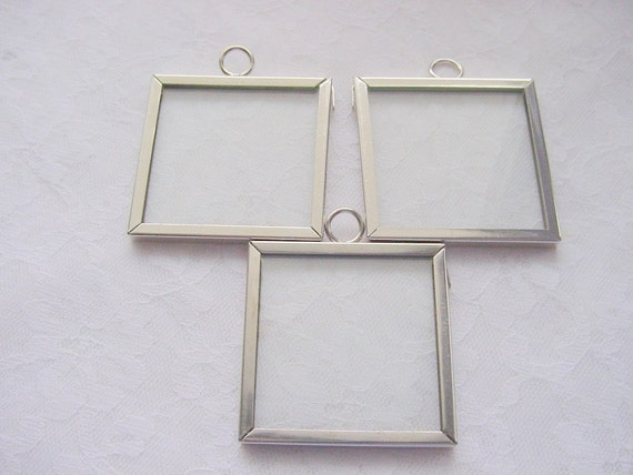 Lot of 3 Pieces 1 1/2 Inch Square Polished Chrome Memory Frame by Ranger