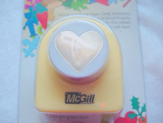 Large Heart Hole Punch Sized to Fit Pendant Tray  1-1/4 Inches