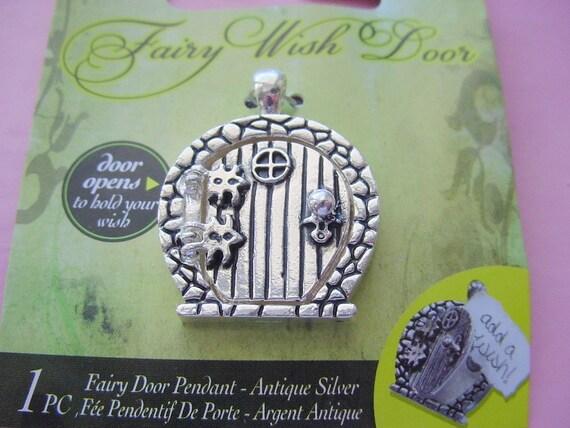 2 Fairy Door Wish Keeper Locket / Pendant Antique Silver 2006