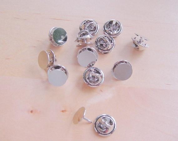 24 Pieces Tie Tack With Clutch Silvertone
