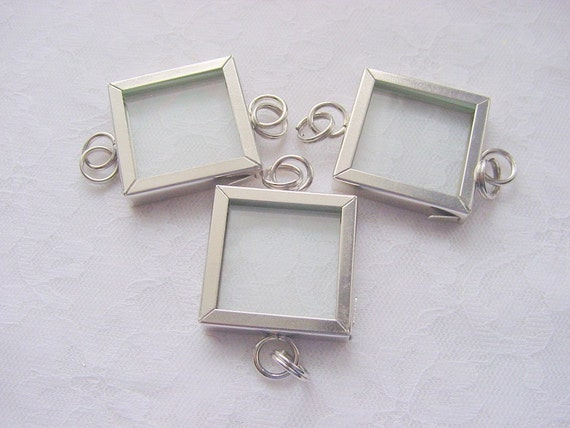 3 Pieces Photo Art Frame 1 Inch Square Polished Chrome