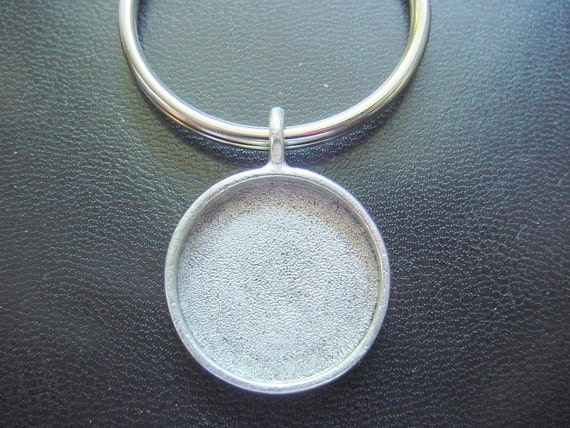 Key Ring Circle Jewelry Blank Silver Plated Pewter Made In The USA