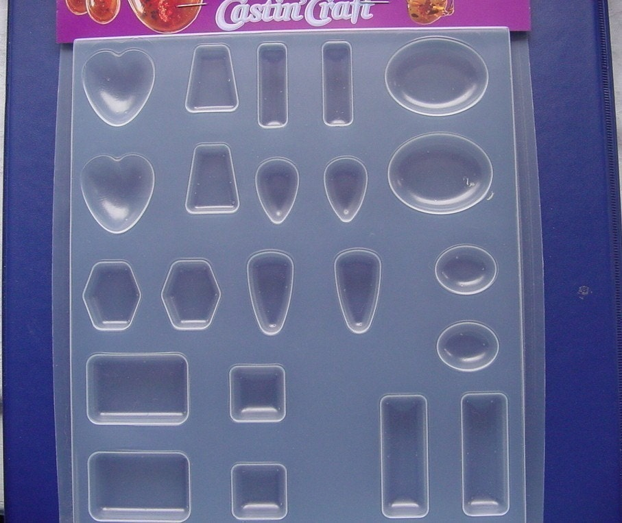 Resin Jewelry Mold Easy Cast 11 Popular Shapes 22 Cavities In
