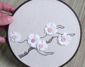 Cherry Blossom Embroidery Wall Hanging (NUE052212-1)
