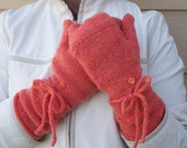 KNITTING PATTERN Fingerless Glove flip top mittens