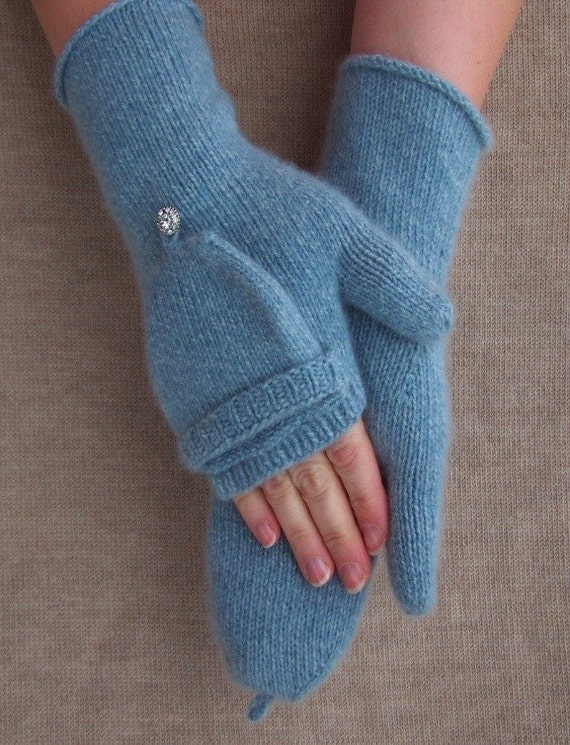 Items similar to KNITTING PATTERN Fingerless Gloves flap glove ruffle tie gau...