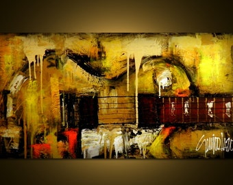 Made to Order - Original Painting - Modern Abstract Art by SLAZO - 24x48