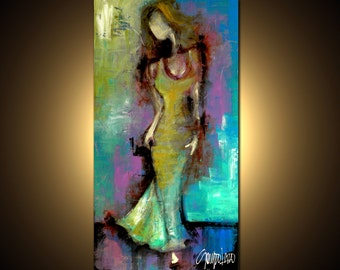 Original Painting - Modern Abstract Art by SLAZO - Made to Order 24x48