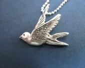 Tiny Silver Sparrow Charm