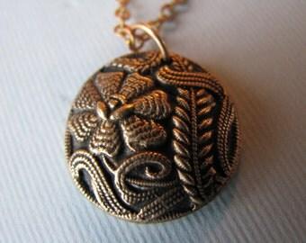 Bronze Victorian Flower Charm