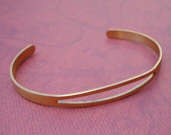 Brass Adjustable Bracelet Cuff (1 piece)
