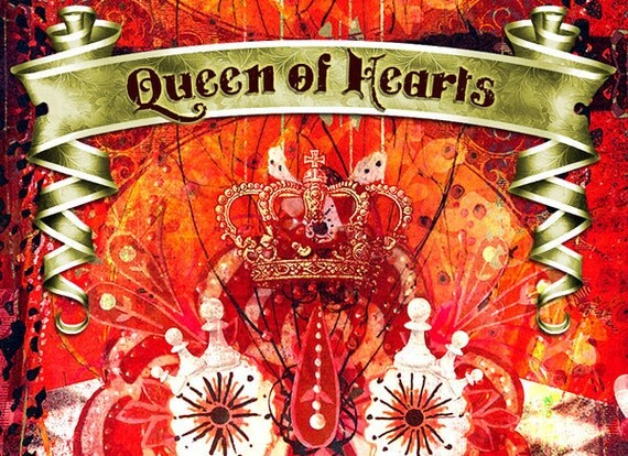 Queen Of Hearts  // Complete Premade Etsy Shop Graphic Set for your Store - ON SALE