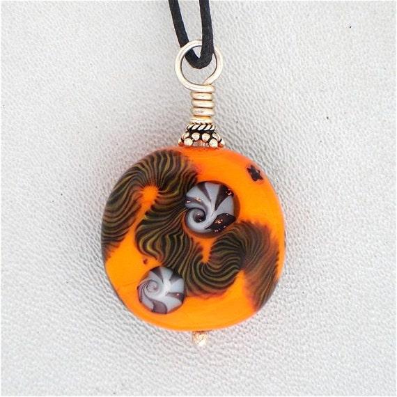 Lampwork Orange yes... Latticcino and Millefiore,