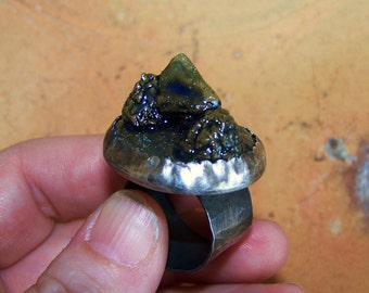 Miniature Diorama Ceramic Ring with sculptural holder