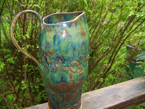 SALE pottery  Sturdy Stoneware Pitcher