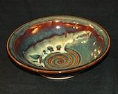 Handmade Pottery Serving Bowl, Wheel Thrown Stoneware Bowl