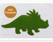 Applique Template - Triceratops