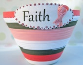 Breast Cancer Awareness Faith, Quilled Paper Pot