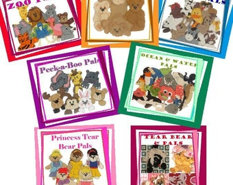 OVER 120 ANIMAL PATTERS Tear Bear INSTRUCTIONS 7 Sets