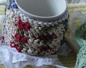 Crochet Mug Cozy Hot Beverage Warmer Insulated Made to Order