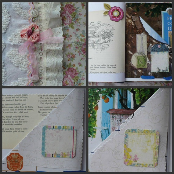 Reserved for Maddie Only- Custom Order - Repurposed Junk Journal