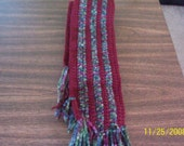 Dark Rose Mixed Colored Scarf