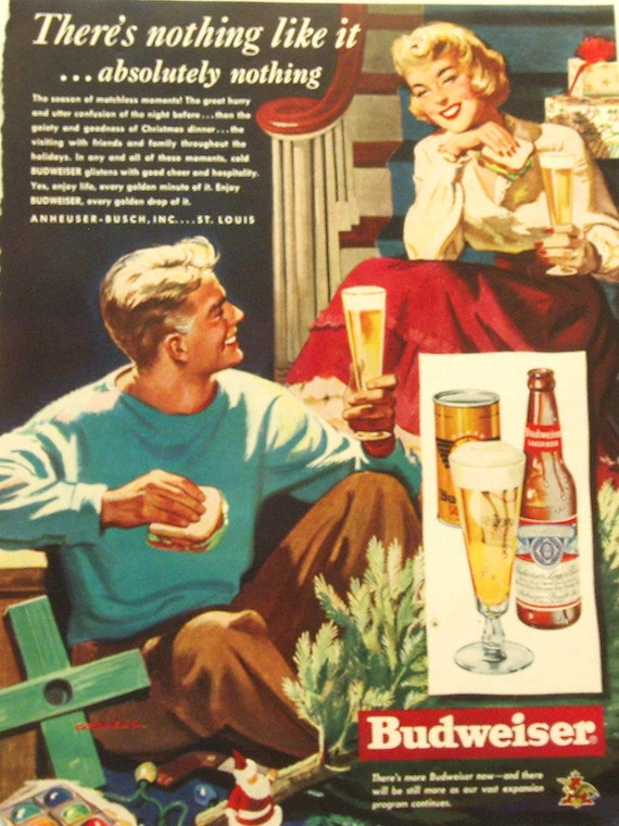 Assorted Liquor And Beer Ads From 1930s 1940s 1950s