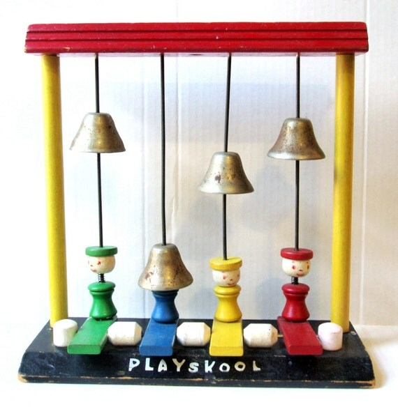Playskool Musical Toys : Sale vintage playskool musical toy wooden people and by