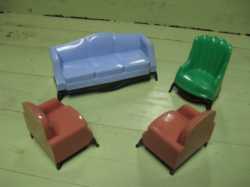 Vintage Plastic Doll House Furniture 1930s Style