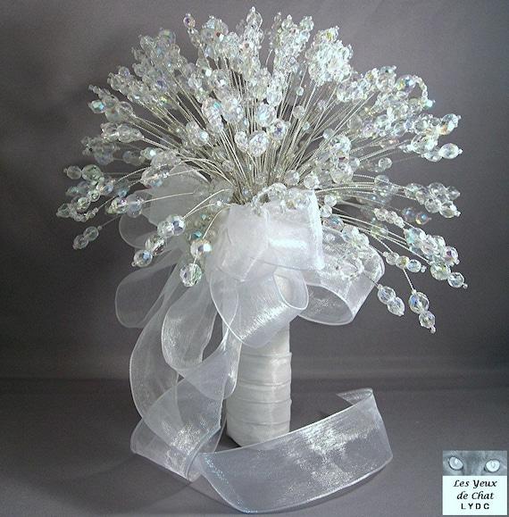 Wedding Bouquet Crystal Flowers: Opulent Crystal Bridal Bouquet Set The Dutchess By