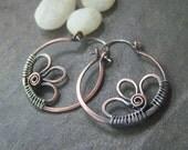 50% off Tutorial Sale-Tutorial for Rustic Daisy Hoop Earrings.