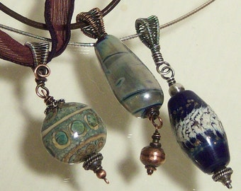 50% off Tutorial Sale-Tutorial for Pendant with Wire Woven Bail.