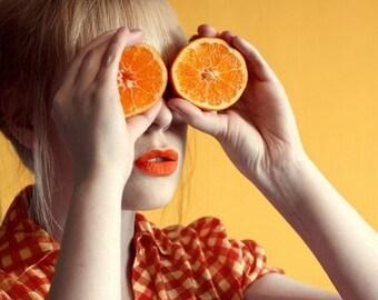 Orange 8x8 print