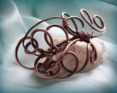 Pisces Wire wrap copper brooch