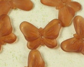 6 Pcs Butterfly Beads Brown Jewelry Findings PB02
