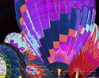 Flame in the Night - Hot Air Balloon Fine Art  Photo - Balloon Fiesta - Travel Photo - Home Decor - Office Decor
