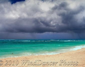 Storm Greeter  -  Fine Art  Beach Photograph - Hawaii - Tropical Beach - Beach Photo - Stormy Beach - Home Decor - Office Decor