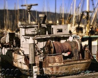 The Dora Mae - Fine Art Photograph - Old Fishing Boat - Marina - Fishing Boat Photo - Old Boat - Home Decor - Office Decor