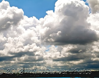 Day of the Clouds - 9 x 12 Fine Art Photograph of Clouds -  Lake Erie - Summer Clouds - Home Decor - Office Decor