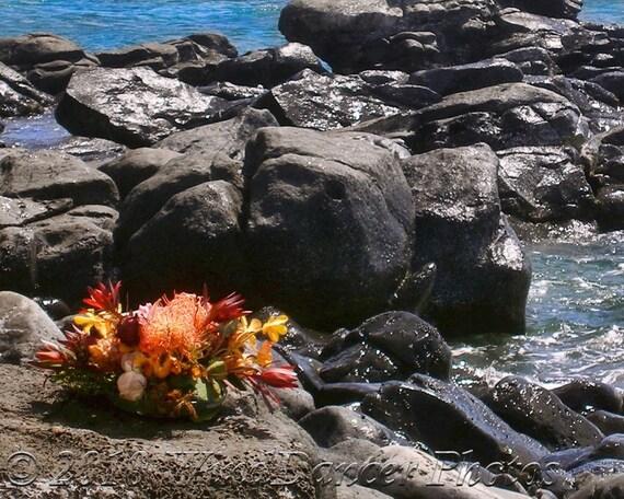 Offerings at Hookipa -  11 x 14 Fine Art Photograph - Maui Photo - Hawaii - Hawaii Photo - Shoreline - Home Decor