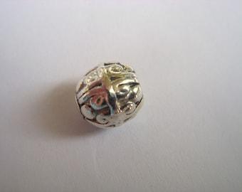 metsl beads,  Antiqued pewter beads,  10mm  Pkg of 50