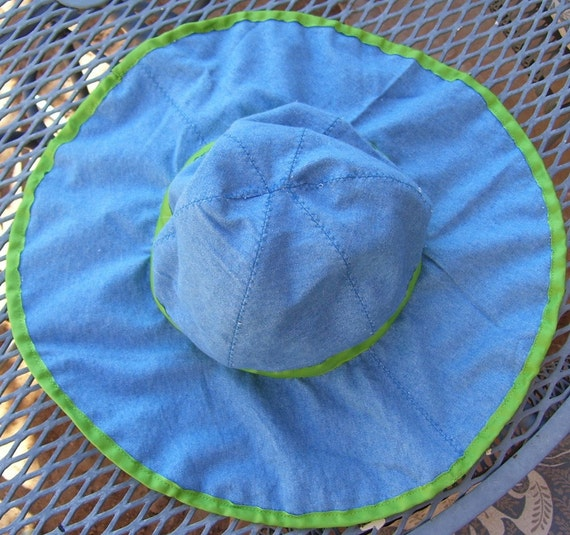 Green and Blue Gardening Hat