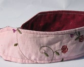 Women's Headband, Pink and Burgundry Rose Printed Headband